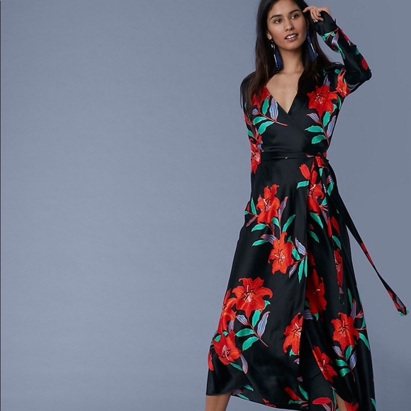 20e41fa2 Diane Von Furstenberg Dresses & Skirts - DVF Tilly Long-Sleeve Woven Wrap  Dress